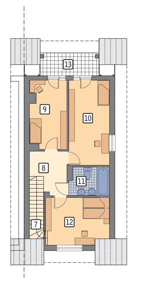 Rzut poddasza POW. 60,4 m²