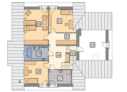 Rzut poddasza POW. 137,6 m²