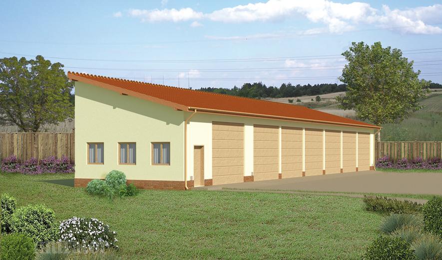GMC07a Budynek garażowo-magazynowy