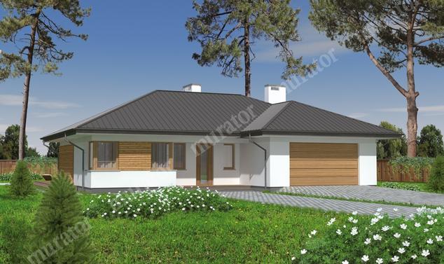 Projekt domu:  Murator M122   – Poranna mgła