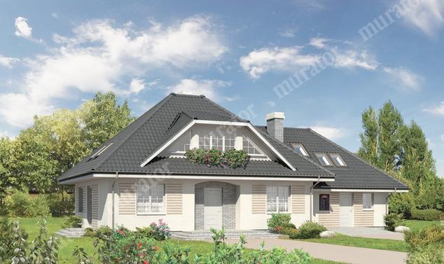 Projekt domu:  Murator M62c   – Dolina tęczy - wariant III (z usługą)
